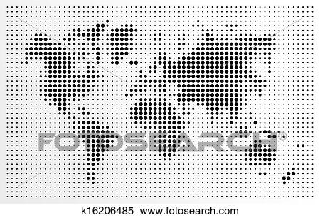 Clipart of world map black dots atlas composition eps10 vector file world map black dots atlas composition eps10 vector file organized in layers for easy editing gumiabroncs Gallery