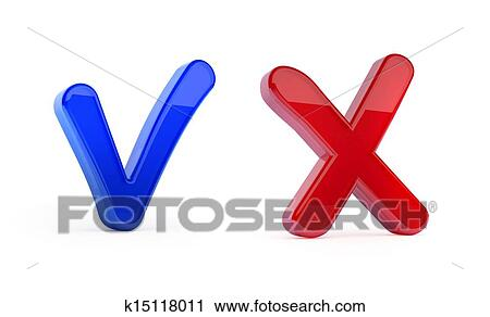 Clipart Of Yes And No Symbols K15118011 Search Clip Art