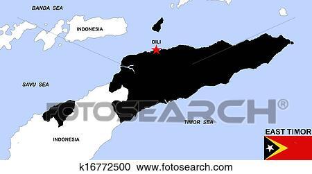 øst timor kart Arkivillustrasjoner   øst, timor, kart k16772500   Søk utklipp