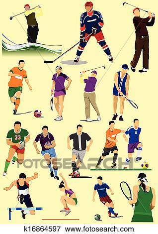 بعض الأنواع بسبب الرياضة Games الكرة القدم Clip Art