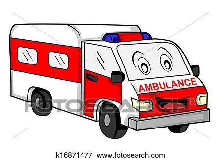 سيارة إسعاف سيارة Clip Art K16871477 Fotosearch