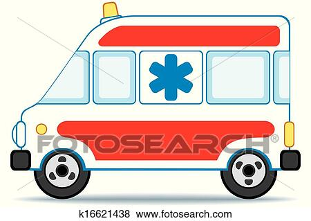 سيارة إسعاف Clip Art K16621438 Fotosearch