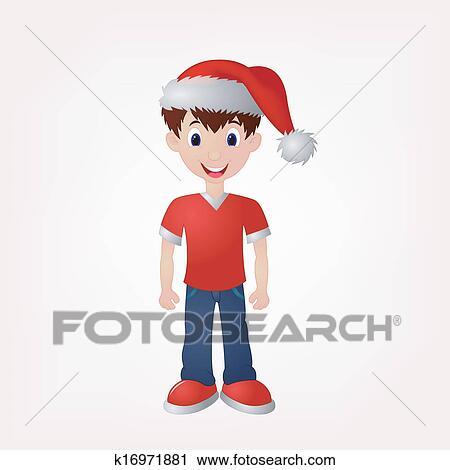 かわいい 男の子 祝いなさい クリスマス2 クリップアート切り