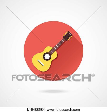 ベクトル アコースティックギター アイコン クリップアート切り張り