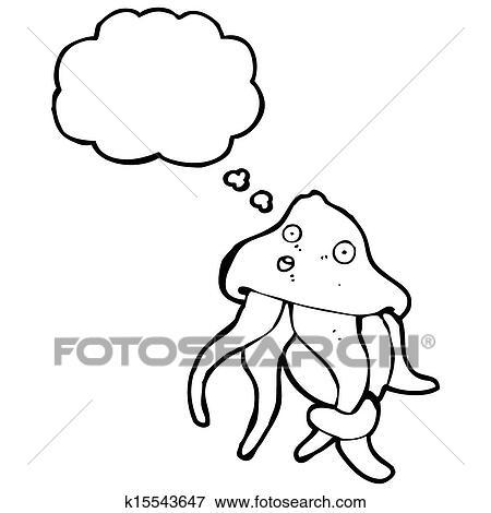 漫画 イカ イラスト K15543647 Fotosearch