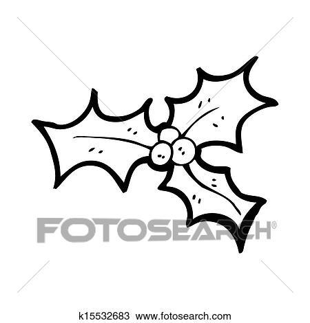 Disegno Agrifoglio Cartone Animato Disegnare Elemento K15532683