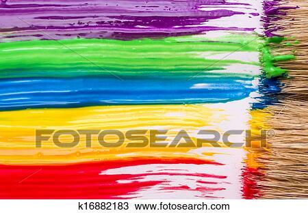 Arc En Ciel Peinture Fond Banque D Image K16882183 Fotosearch