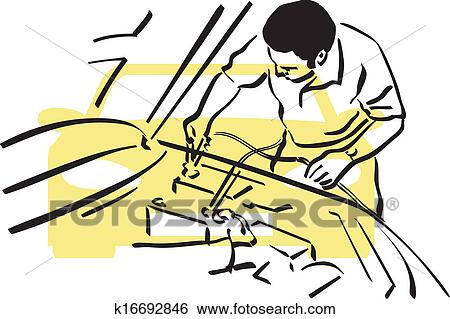 Auto repair Clip Art | k16692846 | Fotosearch