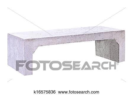 Lige ud Beton bænk Stockillustration | k16575836 | Fotosearch VR55