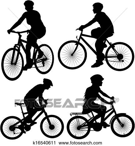 Clipart Of Bike Bicycle Bicyclist
