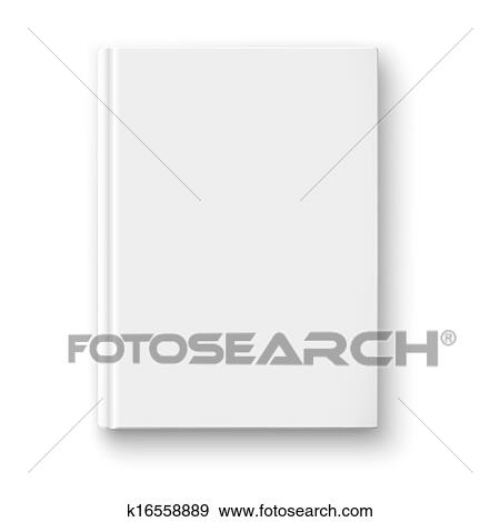 clip art of blank book template with soft shadows k16558889