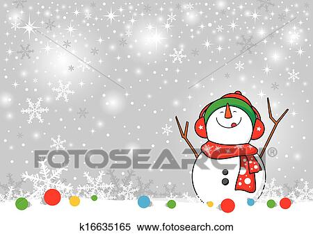 Boneco Neve Desenho Para Natal Backgr Clipart K16635165