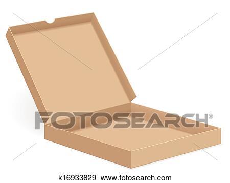 clip art of brown pizza box open k16933829 search clipart rh fotosearch com domino's pizza box clipart pizza box clipart free