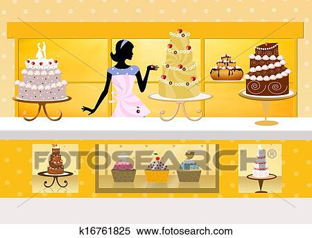 Stock Illustration Of Cake Design K16761825 Search Clipart