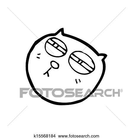 desenhos caricatura gato rosto com olhos estreitados k15568184