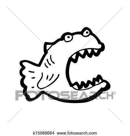 Dibujos - caricatura, piraña k15568664 - Buscar Clip Art ...