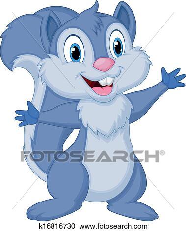 Carino scoiattolo cartone animato proposta clipart k16816730