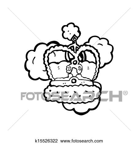 Cartoon Crown Drawing K15526322 Fotosearch 1 drawing a cartoon crown. fotosearch