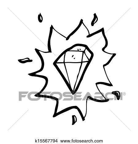 Drawings Of Cartoon Glowing Gem K15567794