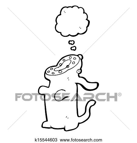 Drawing Of Cartoon Hungry Dog K15544603