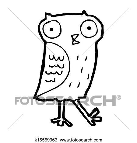 Cartoon Owl Drawing K15569963 Fotosearch