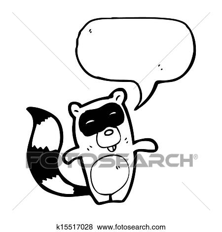 Stock Illustration Of Cartoon Raccoon K15517028