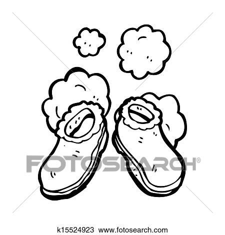 Drawing Of Cartoon Slippers K15524923