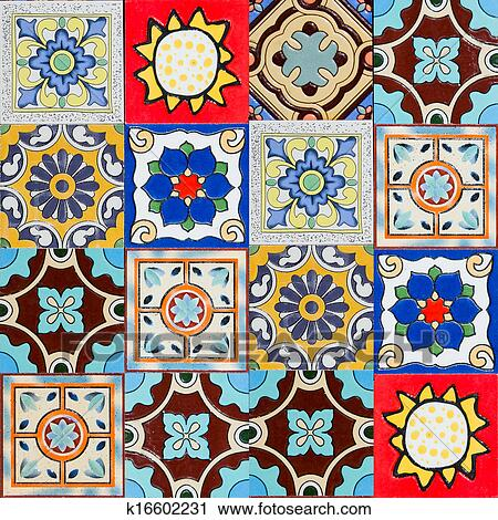 Clipart of ceramic tiles patterns from Portugal. k16602231 - Search ...