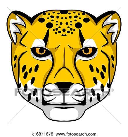 clip art of cheetah k16871678 search clipart illustration posters rh fotosearch com cheetah clipart gif cheetah clip art black and white