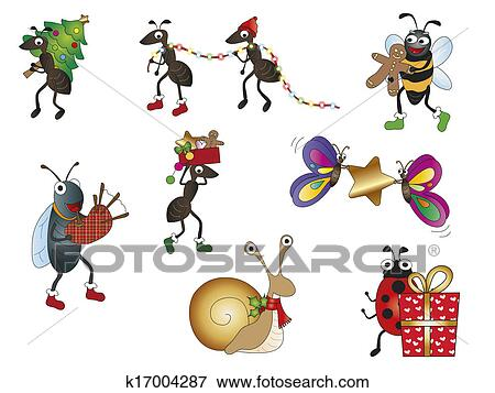Stock Illustration of christmas animals k17004287 - Search EPS ...