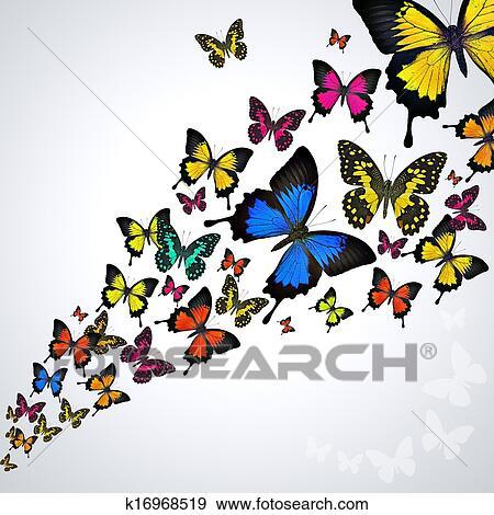 Archivio Illustrazioni Colorito Farfalle K16968519 Cerca