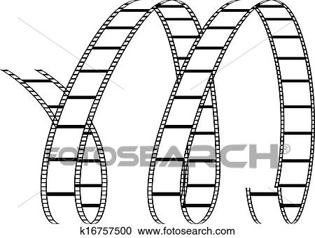 Clipart Of Curly Film Reel Forming Letter M K16757500 Search Clip