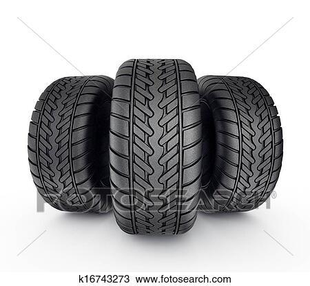 Stor sort dæk