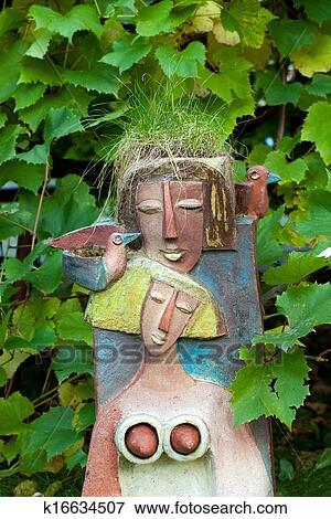 Bild Dass Blumentopf In Dass Form Von Dass Weiblich Kopf
