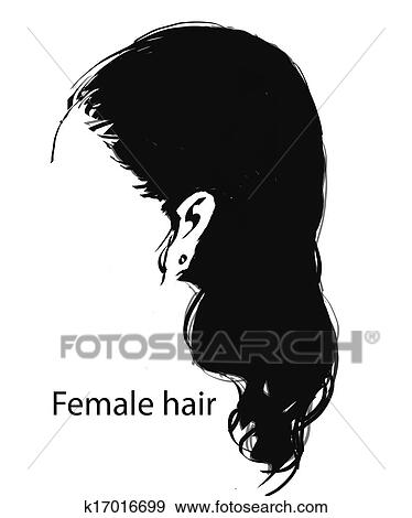 Desenho De Femininas Cabelo Arquivos De Ilustração
