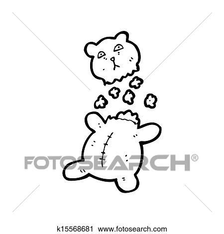 Clipart Dessin Anime Dechire Ours Peluche K15568681 Recherchez