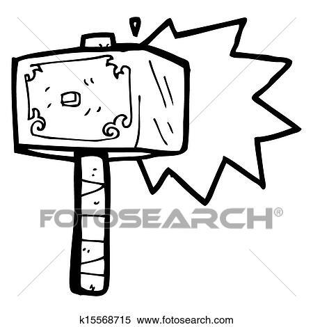 Banque d 39 illustrations dessin anim marteau de thor - Dessin de marteau ...