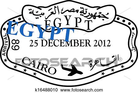 stock illustrations of egypt passport visa stamp k16488010 search rh fotosearch com france passport stamp clipart passport stamps clipart black and white