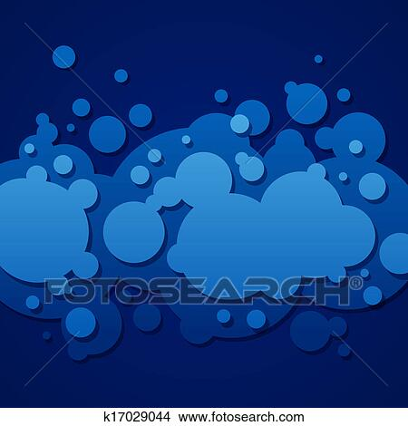 Estratto Sfondo Blu Con Rotondo Bolle Clipart K17029044