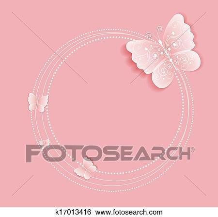 Farfalla Cornice Clip Art K17013416 Fotosearch