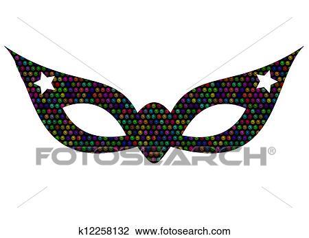 Clip Art Fasching Maske K12258132 Suche Clipart Poster