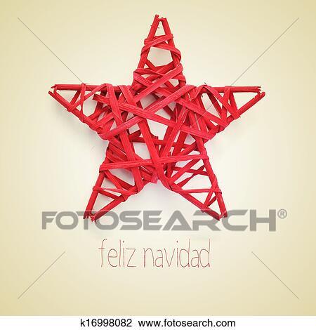 Buon Natale In Spagnolo.Feliz Navidad Buon Natale In Spagnolo Archivio Immagini K16998082 Fotosearch