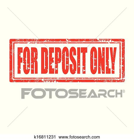 Grunge Rubber Stamp With Text For Deposit Onlyvector Illustration
