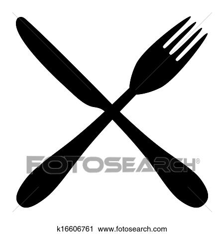 Fork and knife Clipart | k16606761 | Fotosearch