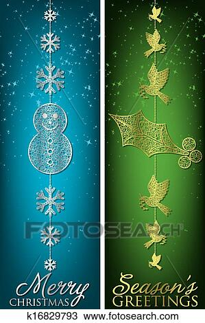 Clipart of formal christmas filigree banners in vector format clipart formal christmas filigree banners in vector format fotosearch search clip art m4hsunfo