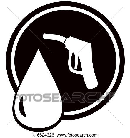 Stock Illustration Of Gun For Fuel Pump Gas Station Sign K16624326