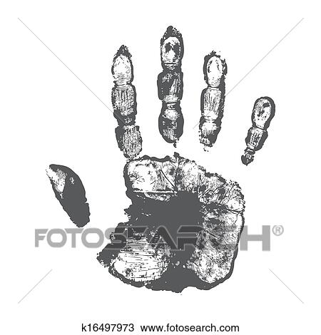 Handprint Drawing K16497973 Fotosearch