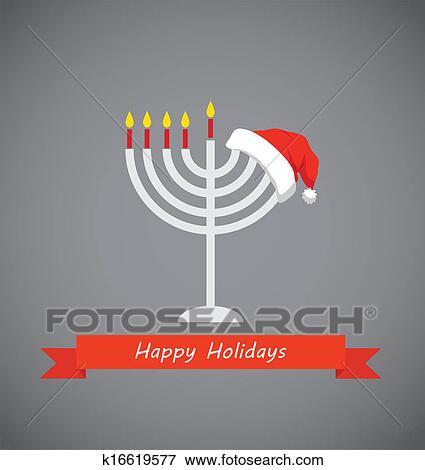 happy holidays merry christmas and happy hanukkah
