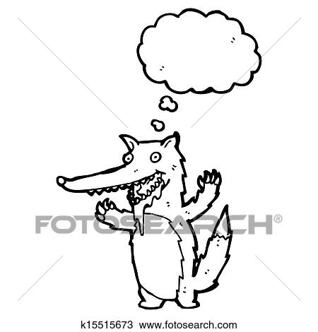 Drawing Of Hungry Wolf Cartoon K15515673