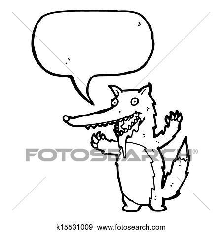 Stock Illustration Of Hungry Wolf Cartoon K15531009